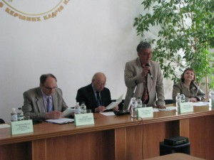 фото президія виступ проф. Забредовського